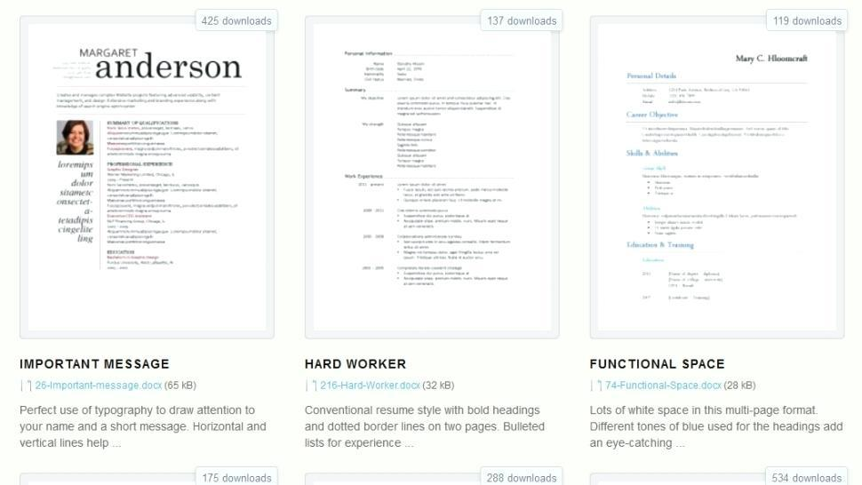 Designer Resume Templates Download