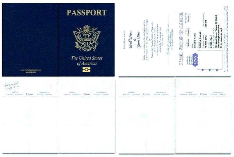 Destination Wedding Passport Invitations Template