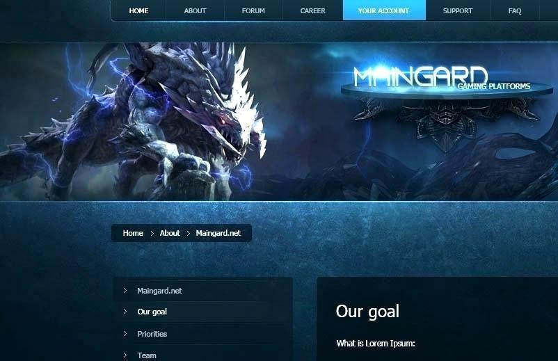 Destiny Clan Website Template