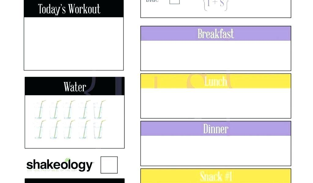 Diabetic Menu Planning Template