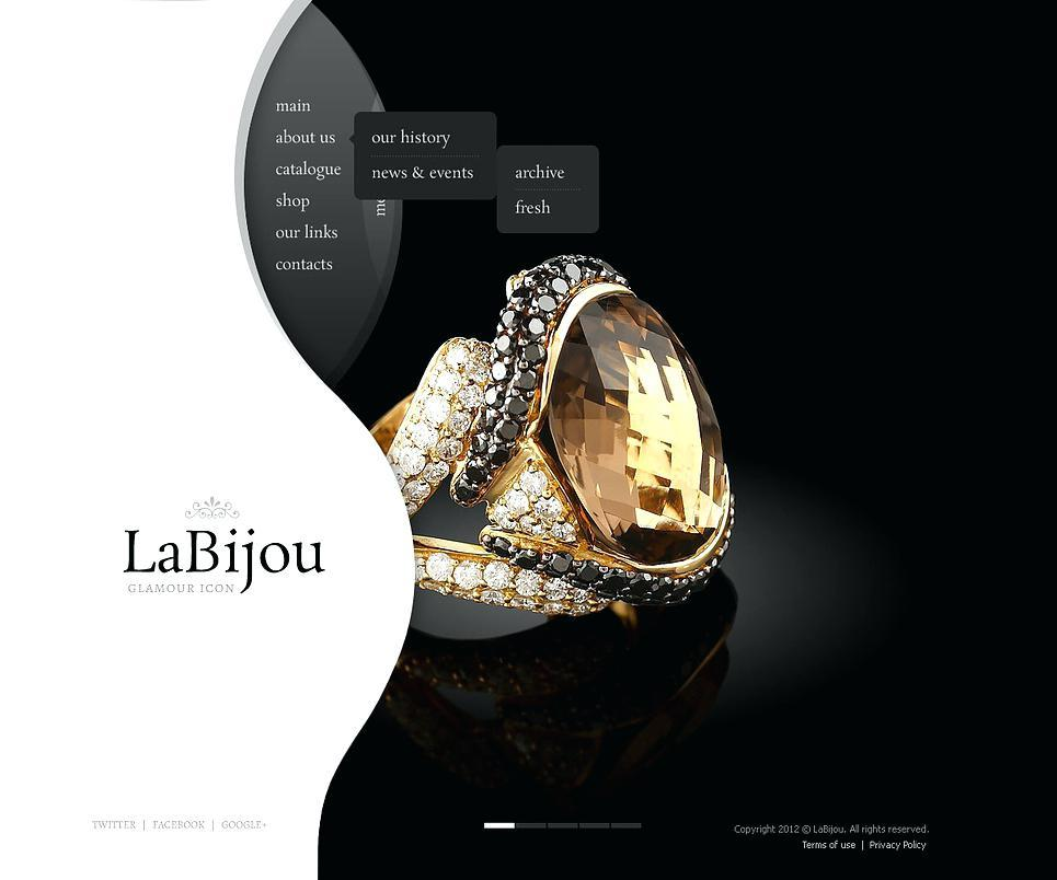 Diamond Jewellery Website Templates