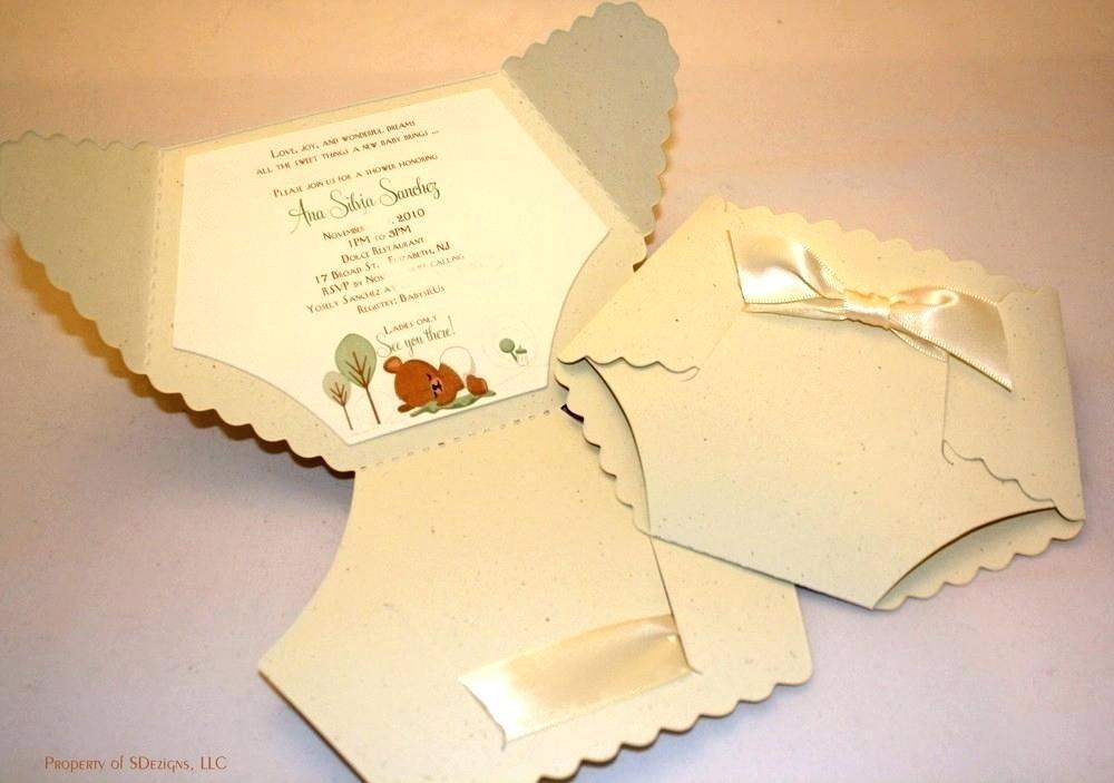 Diaper Invitation Card Template
