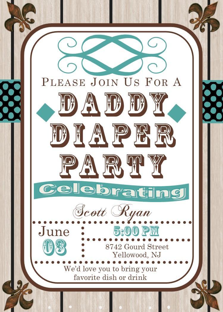 Diaper Party Invitations Templates
