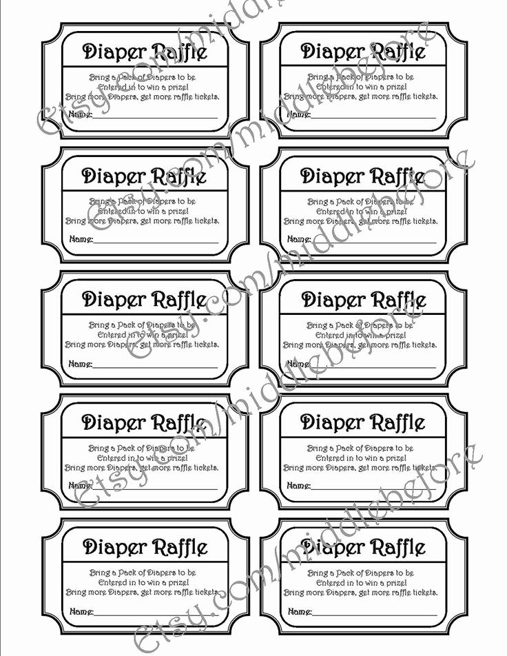 Diaper Raffle Tickets Free Printable Black And White