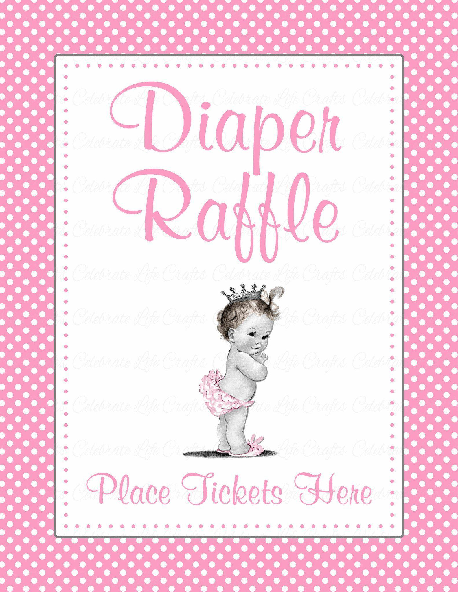 Diaper Raffle Tickets Template Free