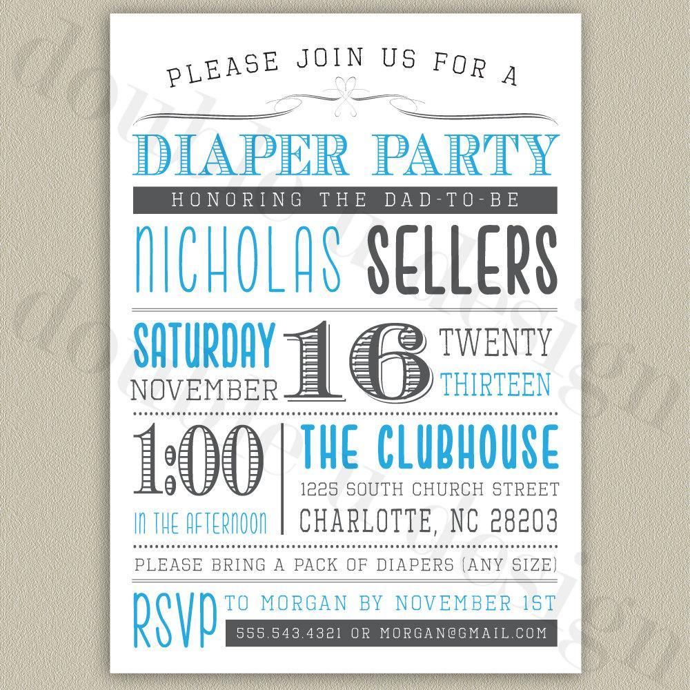 Diaper Template For Invitation