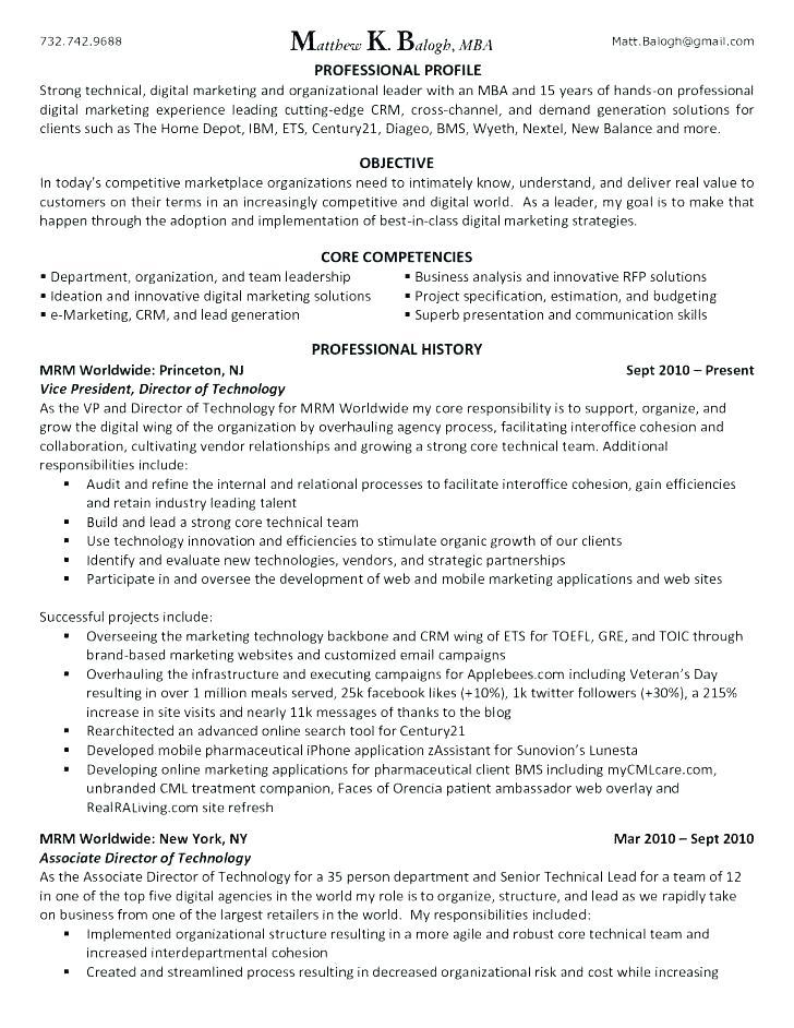 Digital Marketing Executive Cv Template