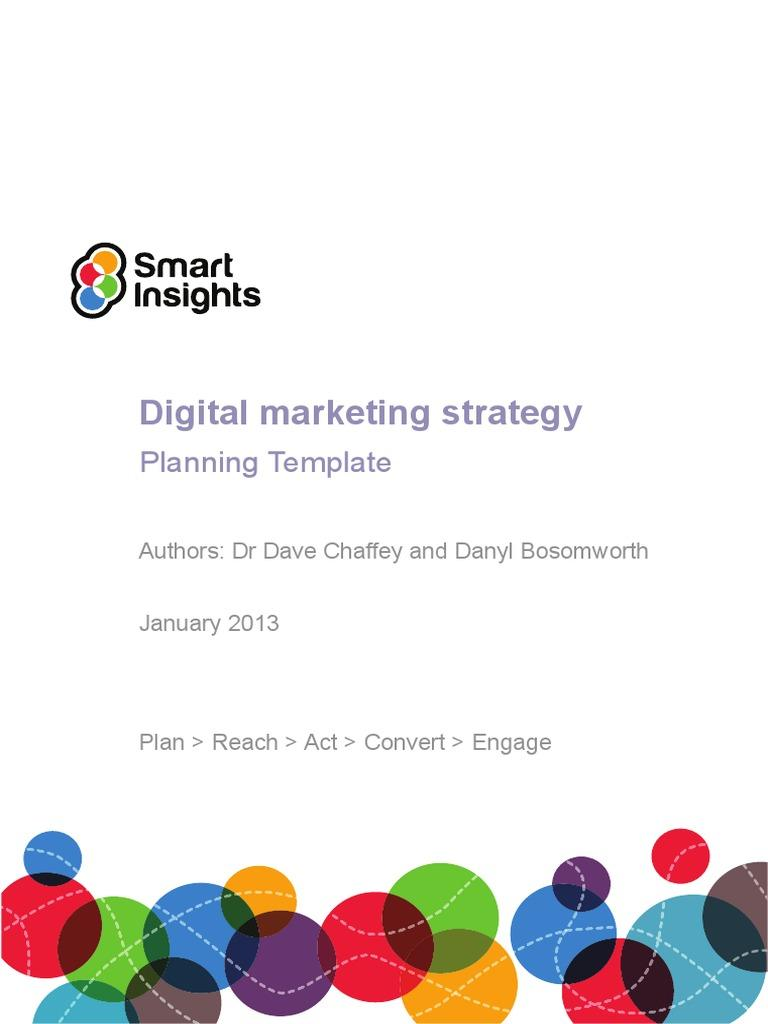 Digital Marketing Plan Template Download