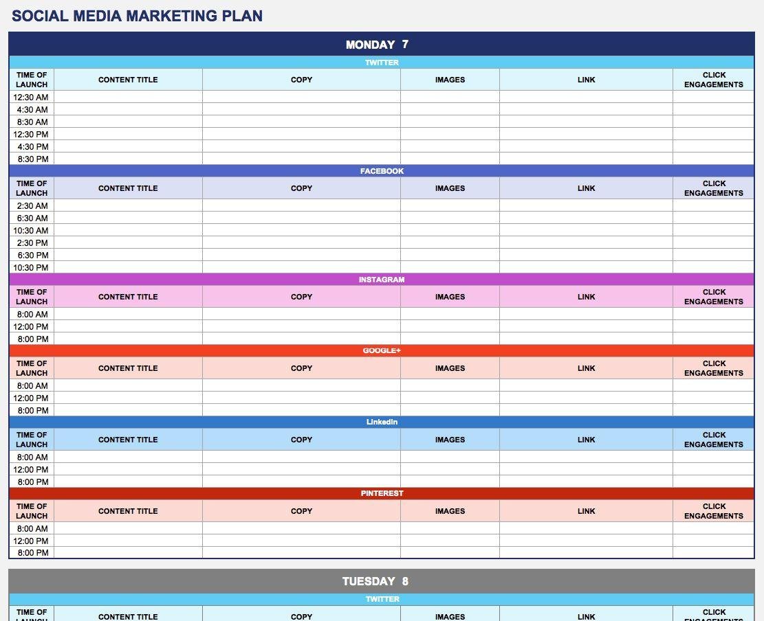 Digital Marketing Plan Template Hubspot