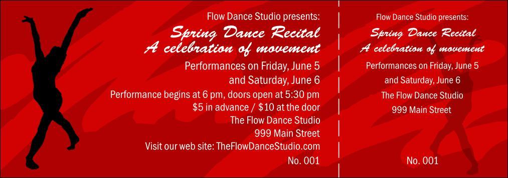 Dinner Dance Ticket Template Free