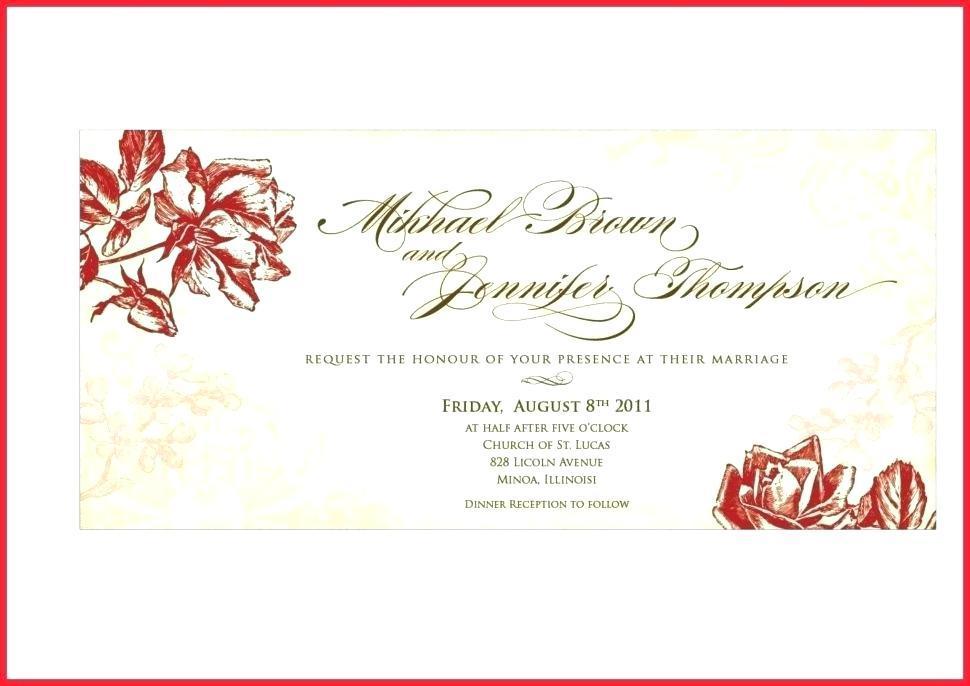 Dinner Invitation Card Template Free