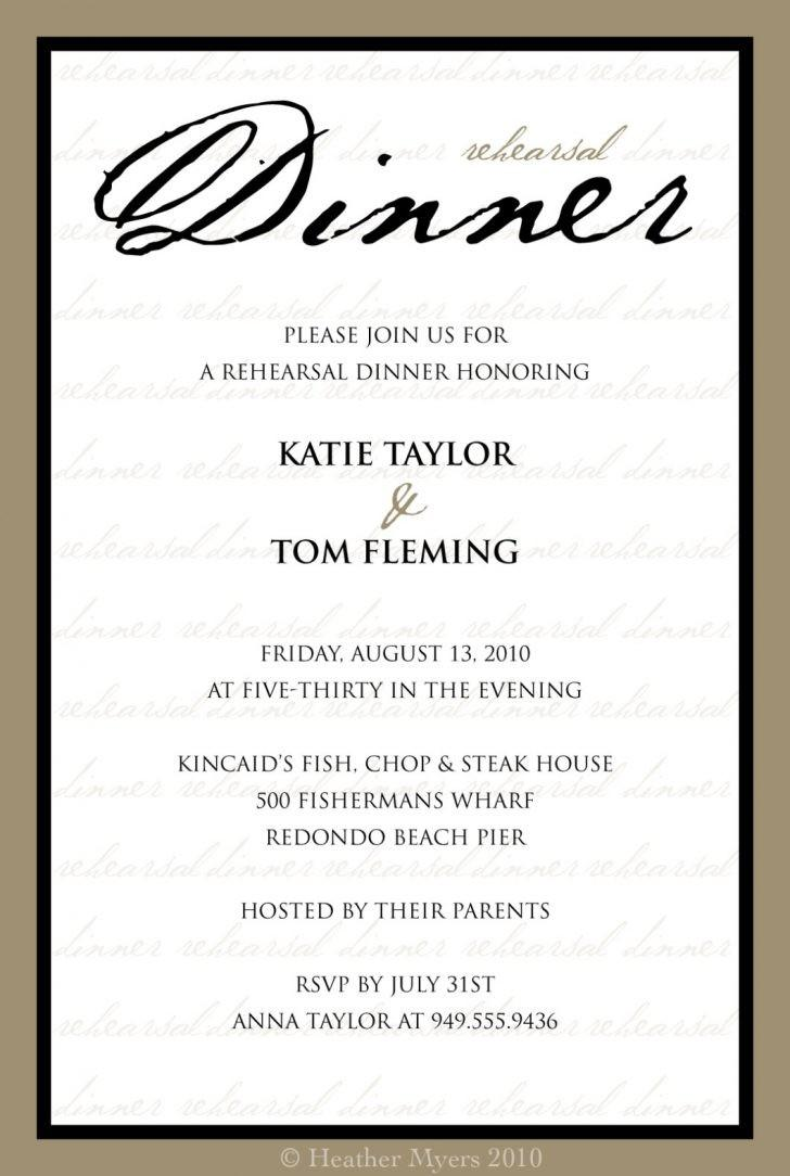 Dinner Invitation Template Doc
