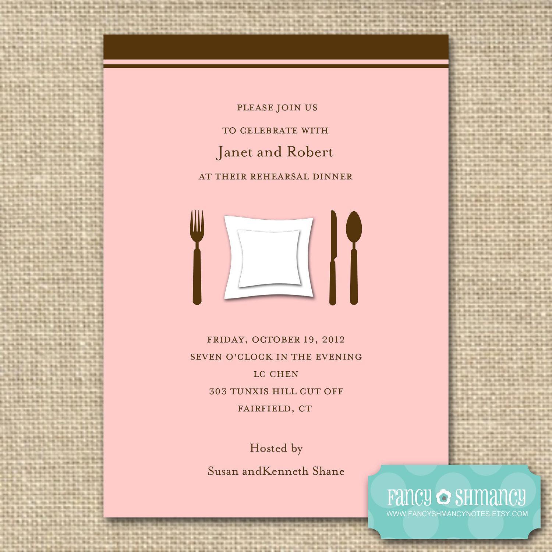 Dinner Invitation Template Online