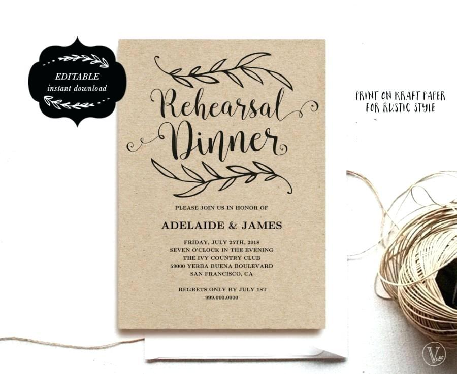 Dinner Invitation Template Photoshop Free