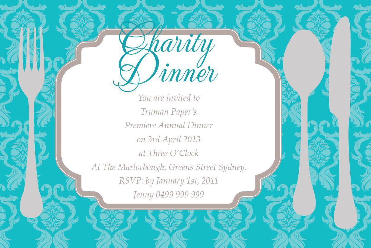 Dinner Invitation Template Ppt