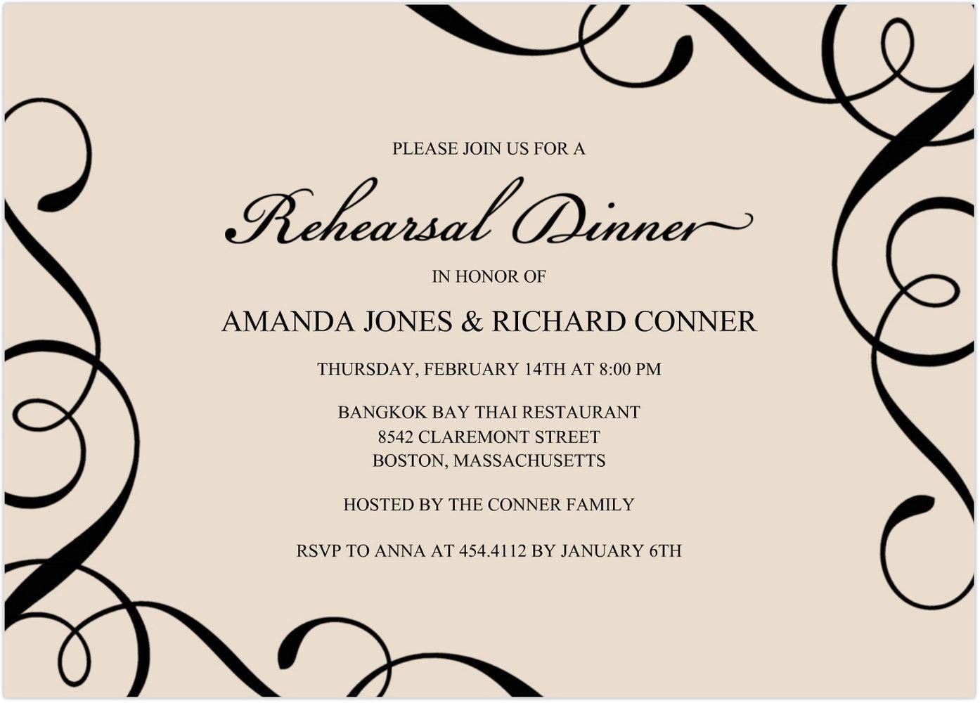Dinner Invitation Templates Word