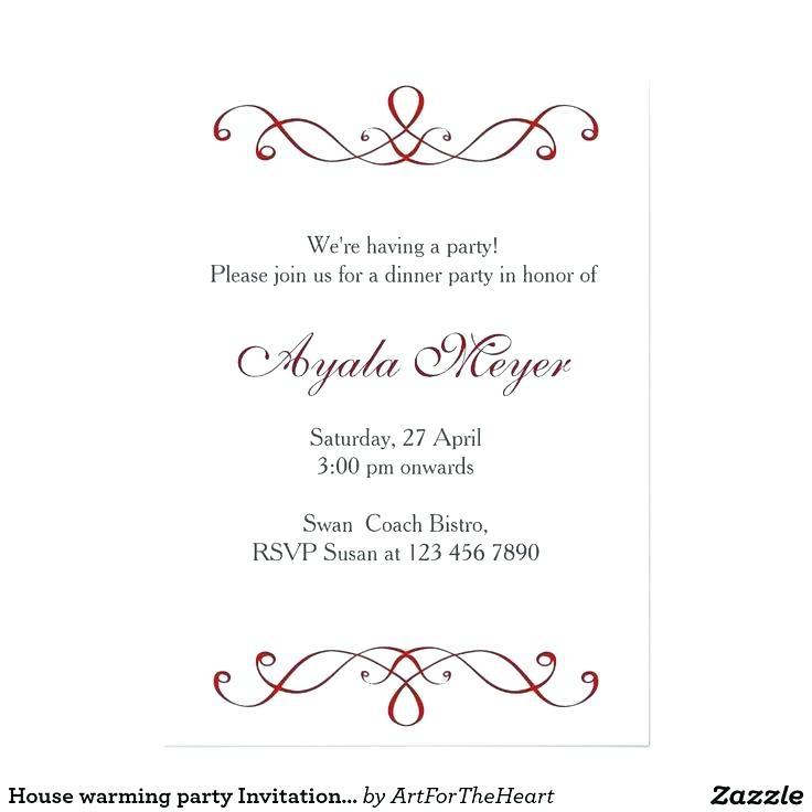 Dinner Reception Invitation Template