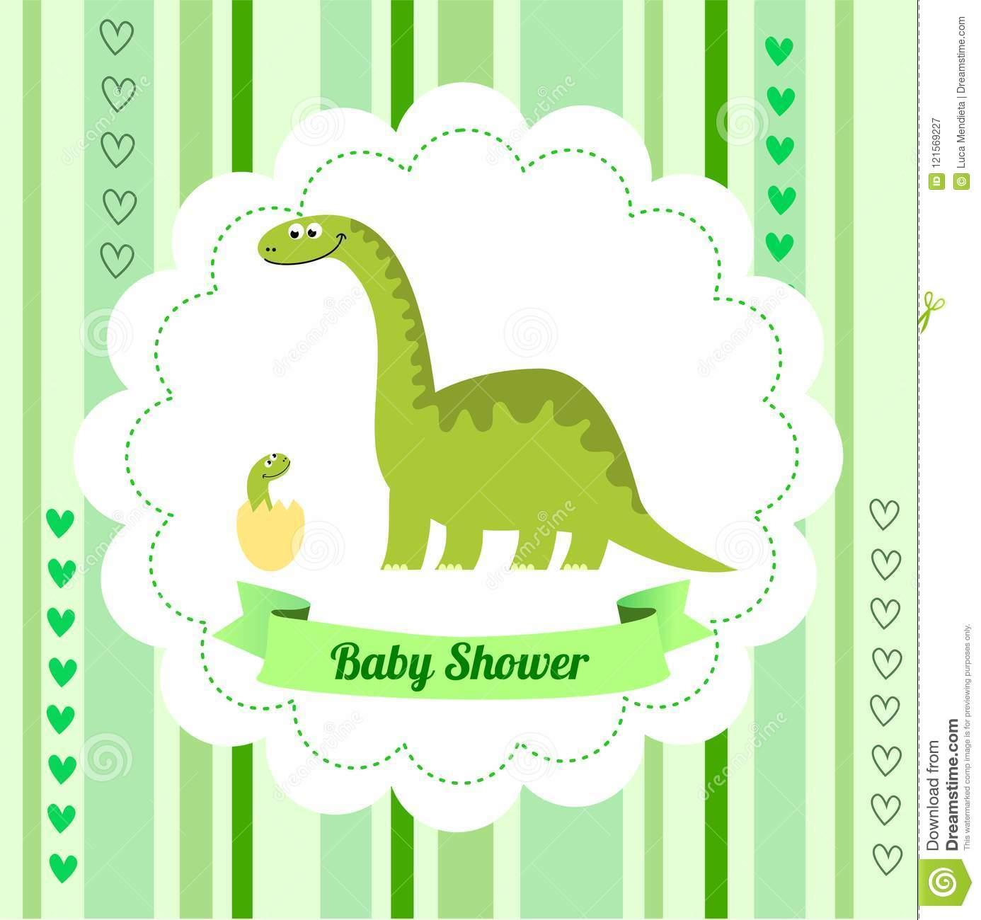 Dinosaur Invitation Card Template