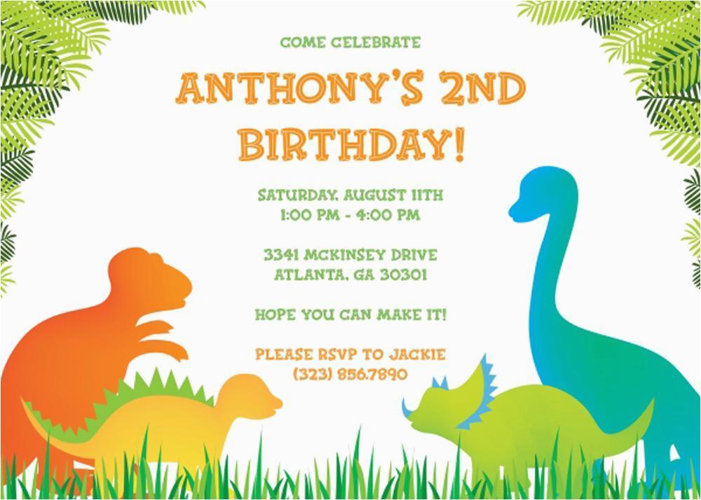 Dinosaur Invitation Template Free