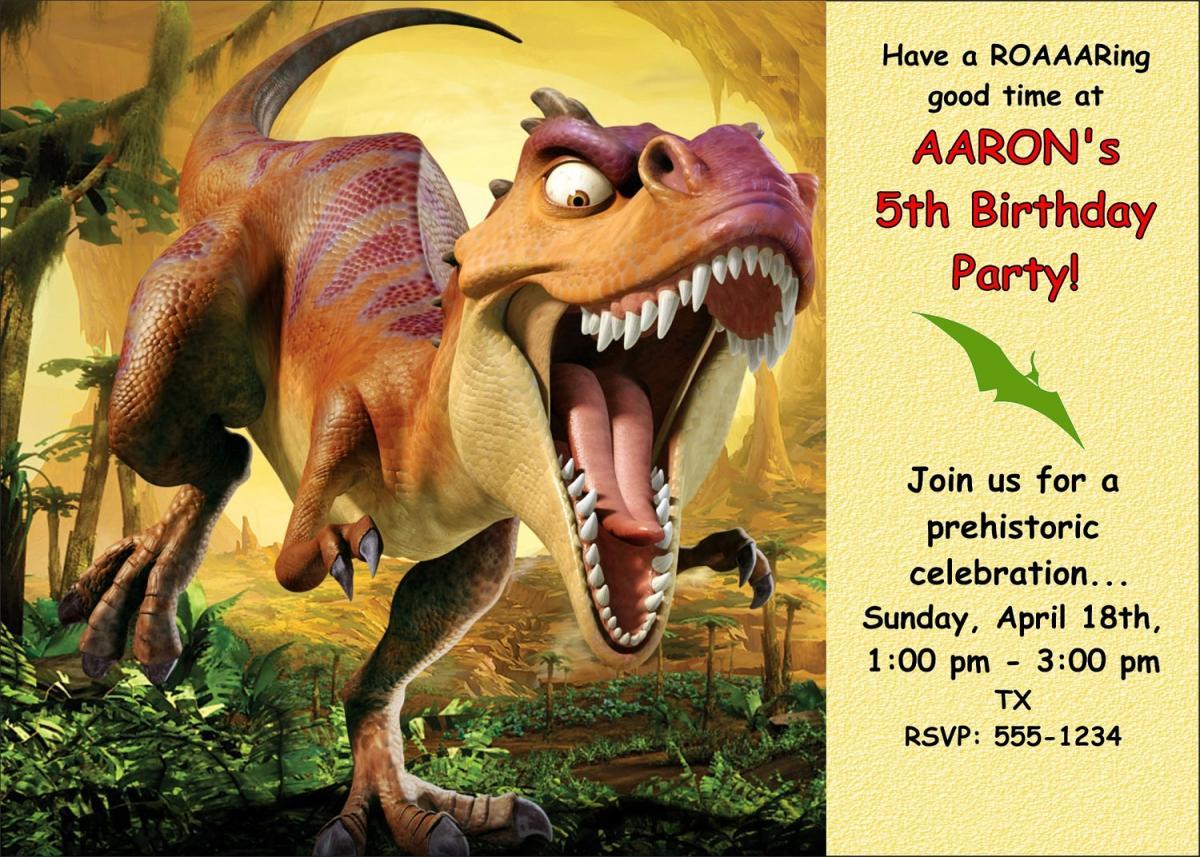 Dinosaur Invitation Templates