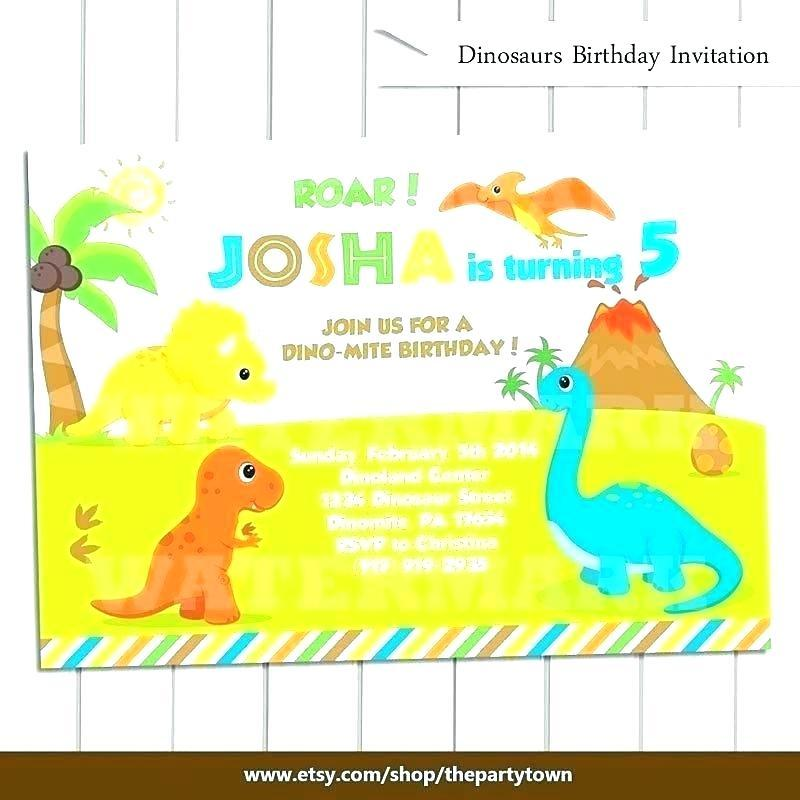 Dinosaur Themed Invitation Templates