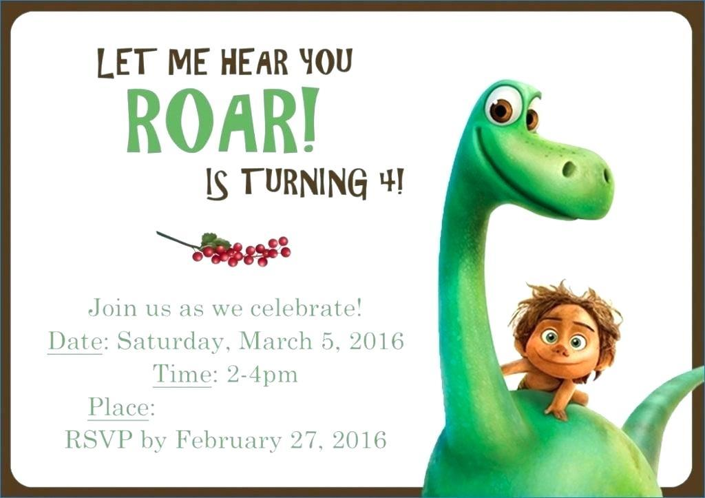 Dinosaur Train Invitation Template