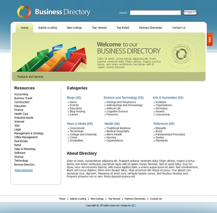 Directory Listing Template Free