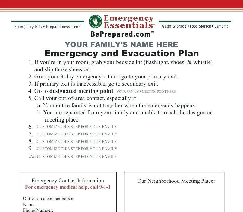 Disaster Preparedness Plan Template For Long Term Care Facilities