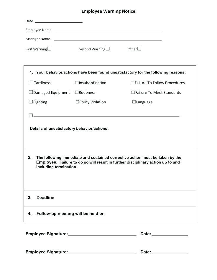 Disciplinary Notice Form Template