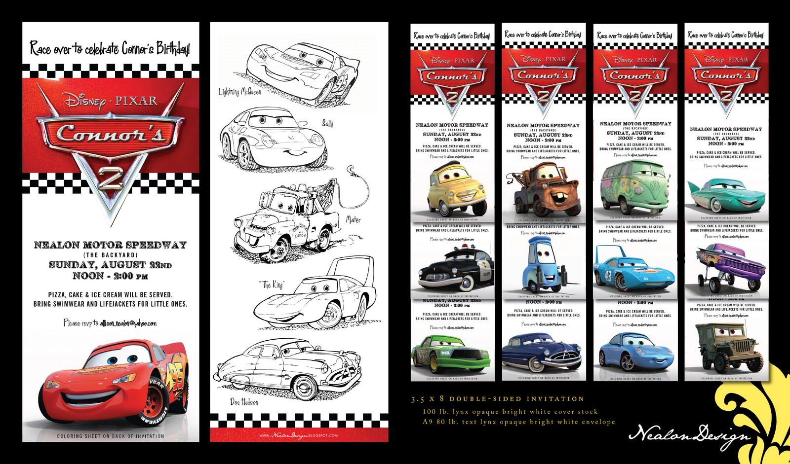 Disney Cars 3 Invitations Templates Free