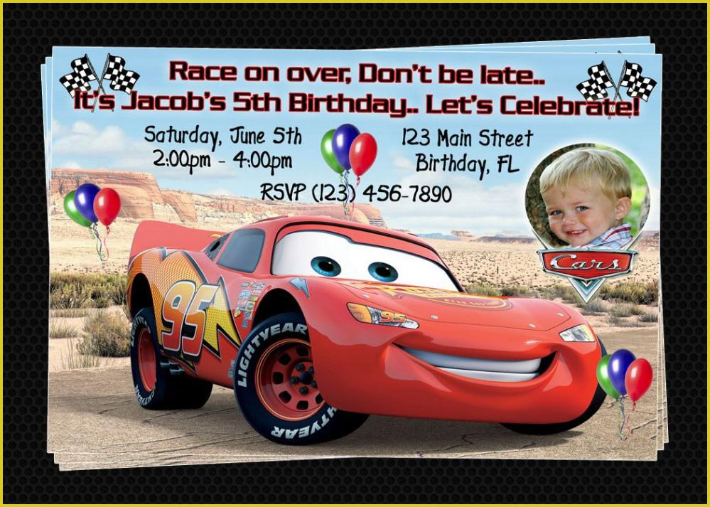Disney Cars Birthday Invitation Templates