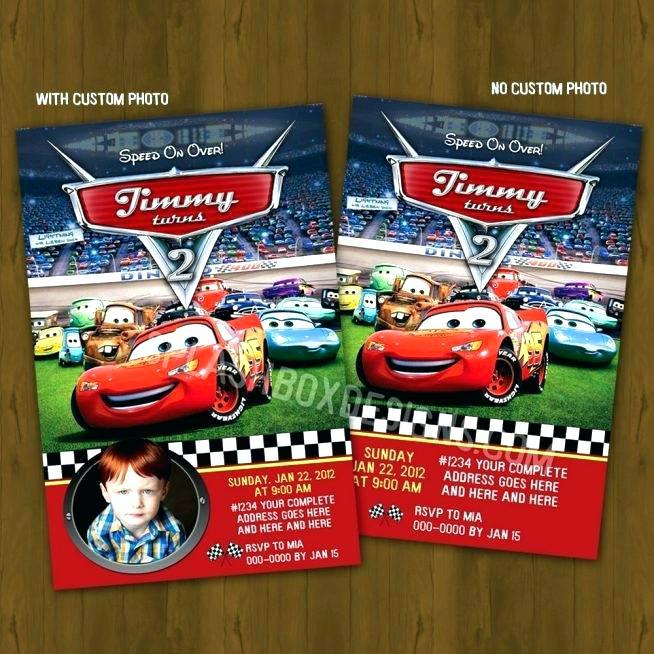 Disney Cars Birthday Party Invitations Templates