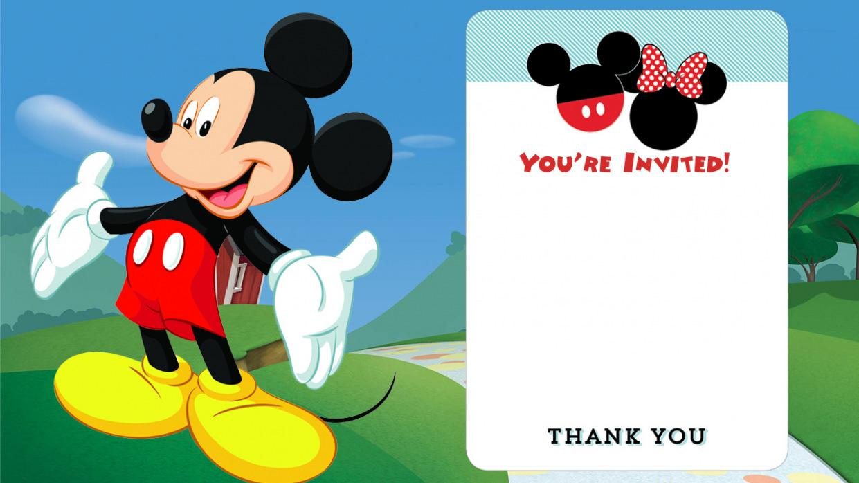 Disney Party Invitation Templates Free