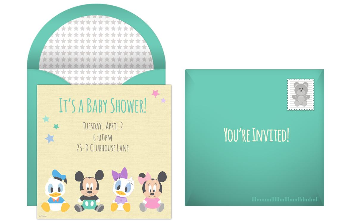 Disney Princess Baby Shower Invitations Templates