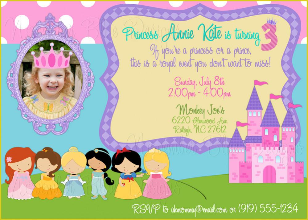 Disney Princess Birthday Invitation Templates