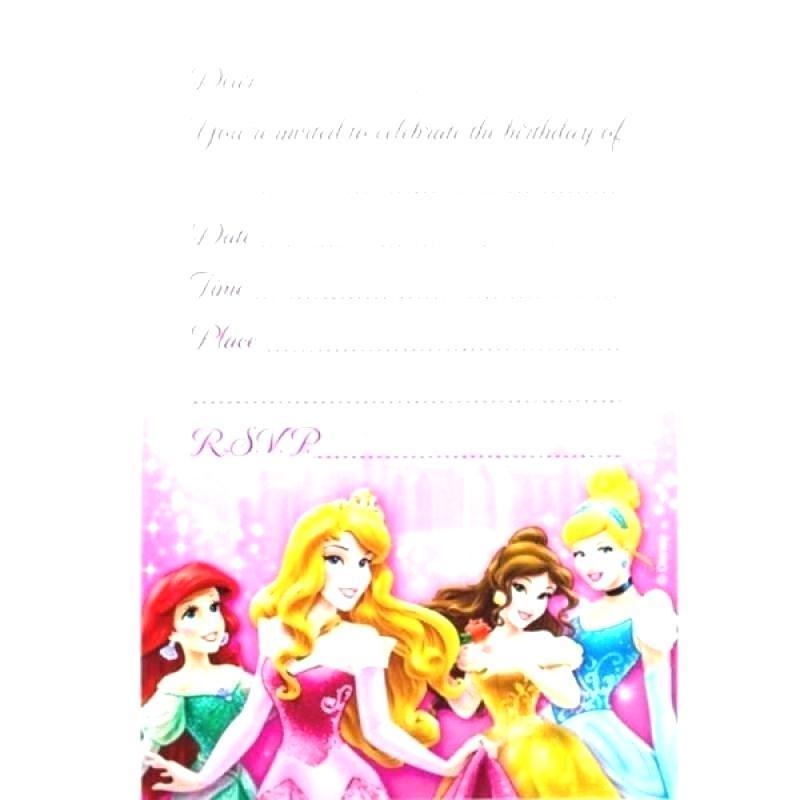 Disney Princess Invitations Templates Free