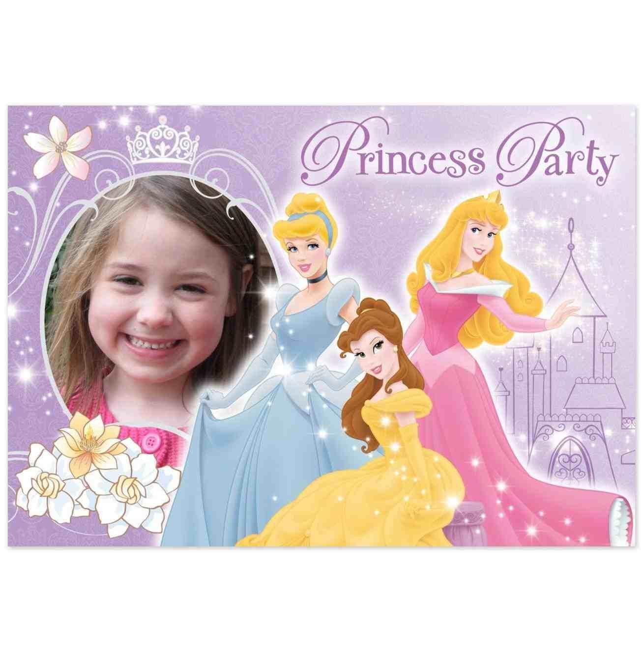 Disney Princess Invitations Templates