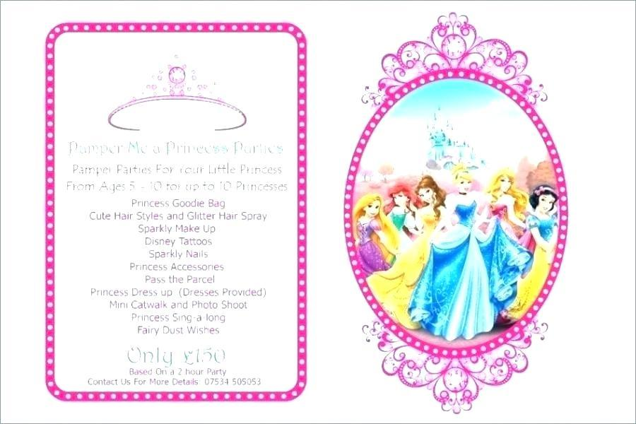 Disney Princess Party Invitations Templates