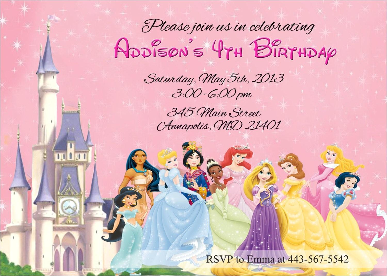 Disney Princesses Invitation Templates