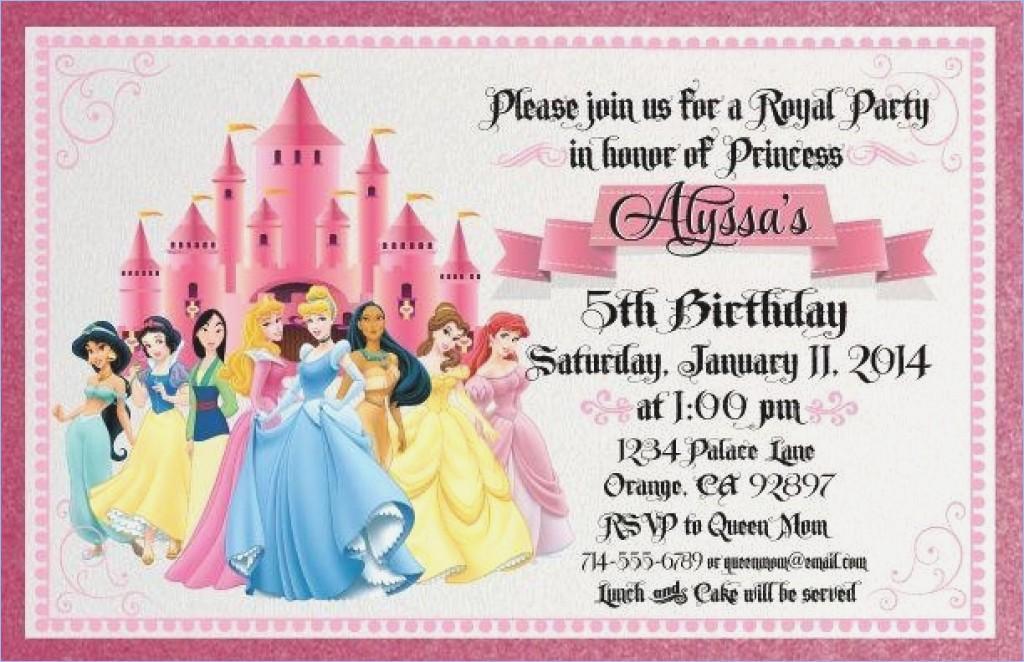 Disney World Invitation Templates