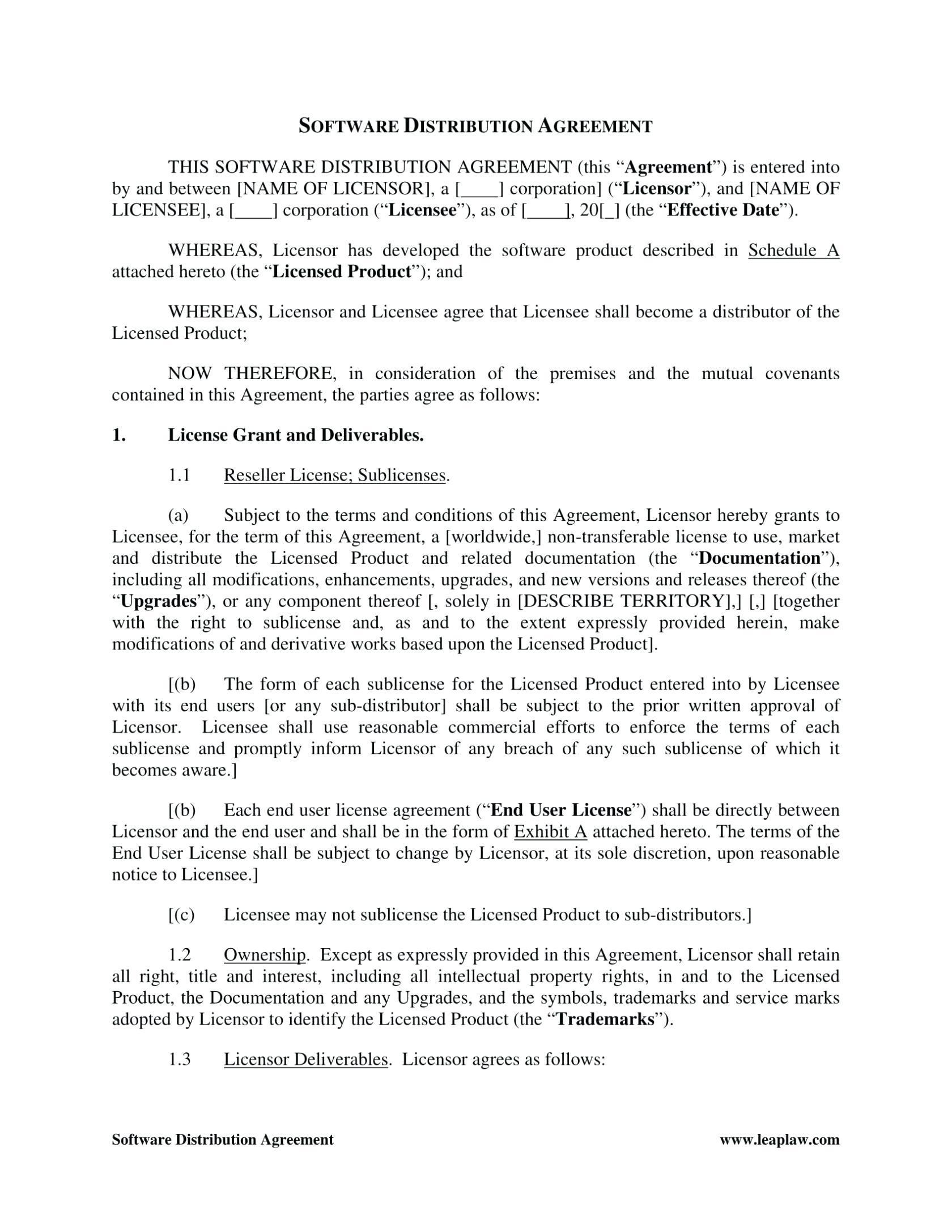 Distributor Agreement Template .doc
