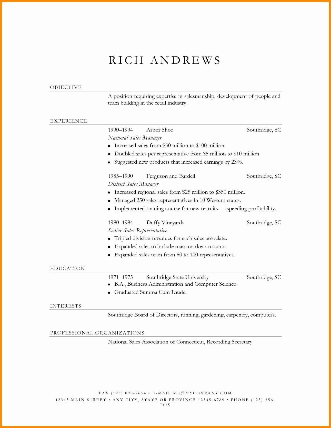 District Sales Manager Resume Template