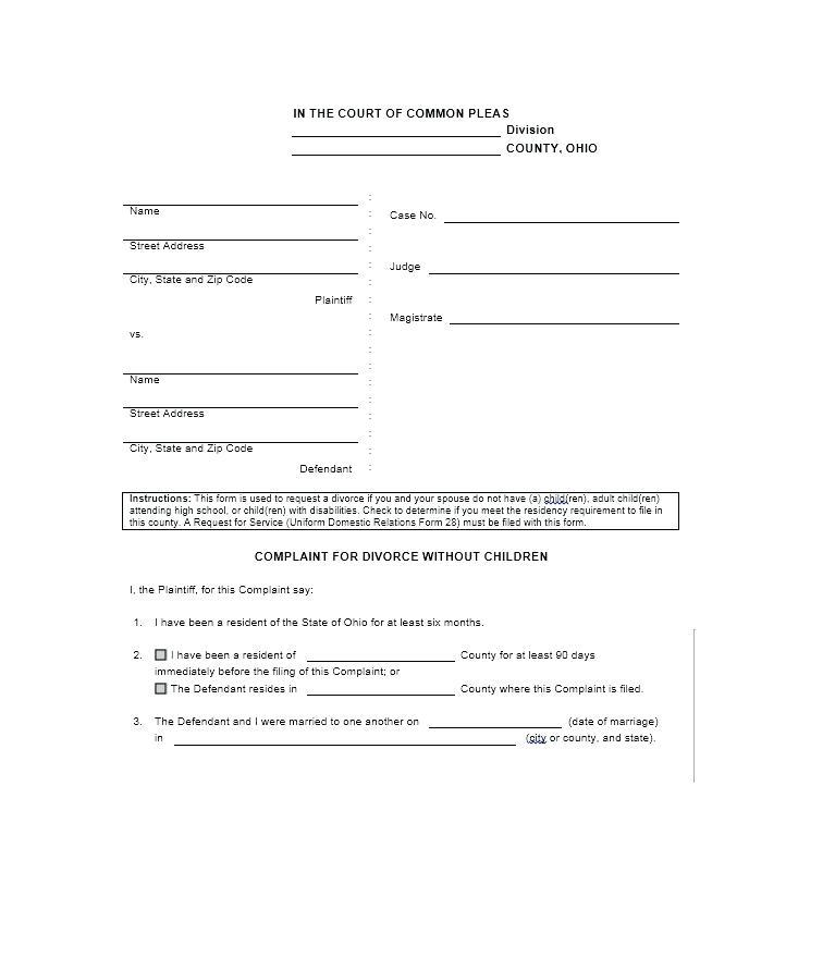 Divorce Decree Form Kansas