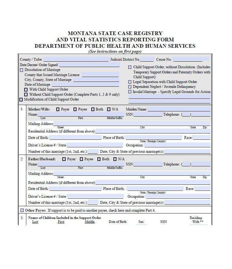 Divorce Decree Form Michigan