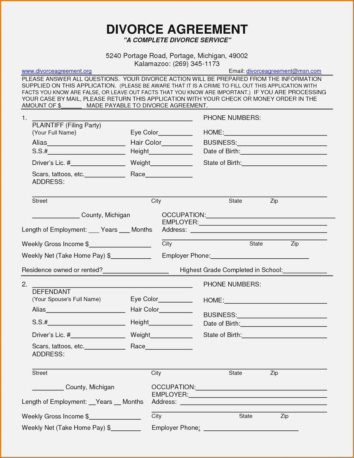 Divorce Decree Form Pa