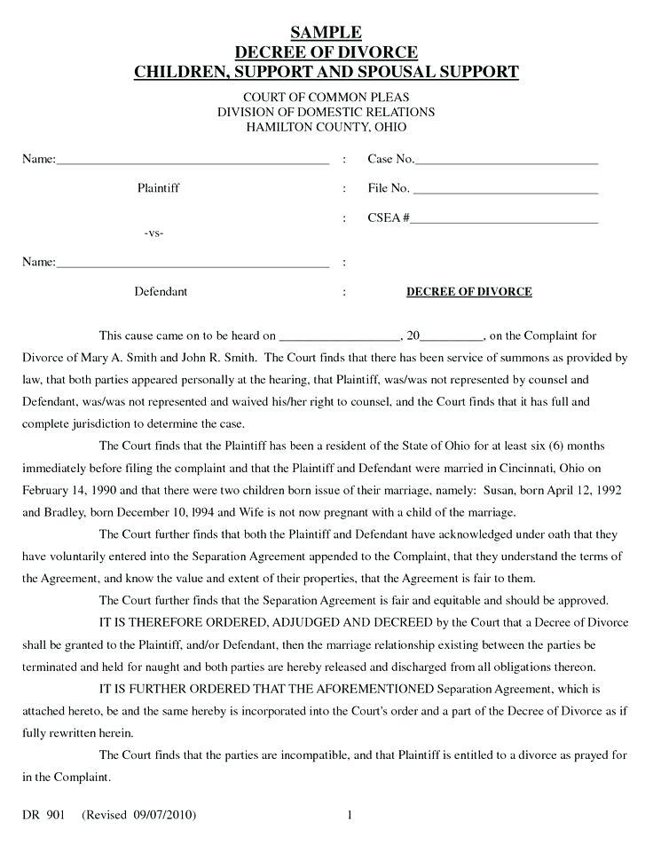 Divorce Decree Modification Forms Texas
