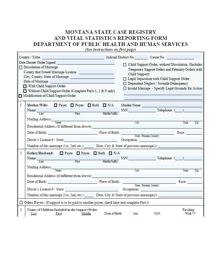 Divorce Papers Template Nj