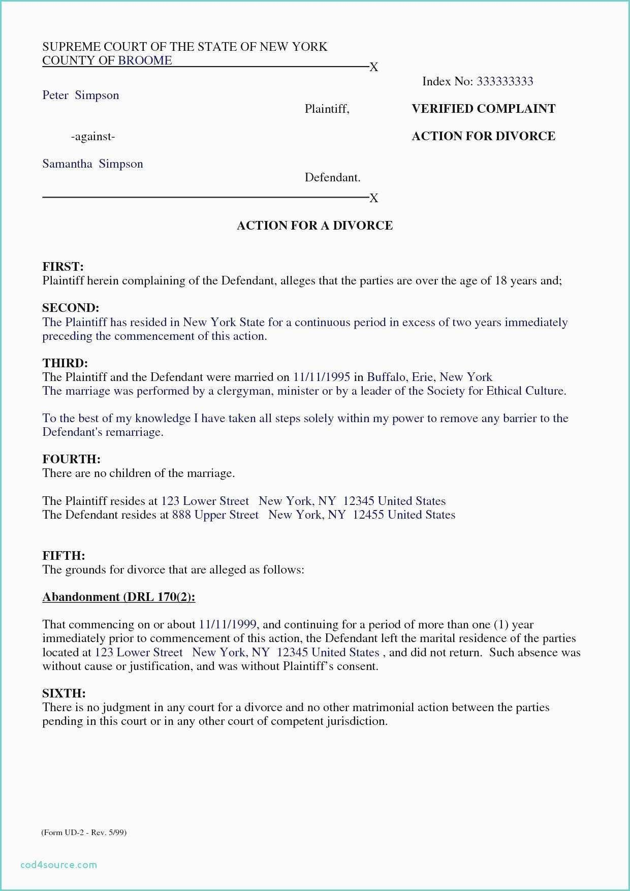 Divorce Settlement Agreement Template Virginia