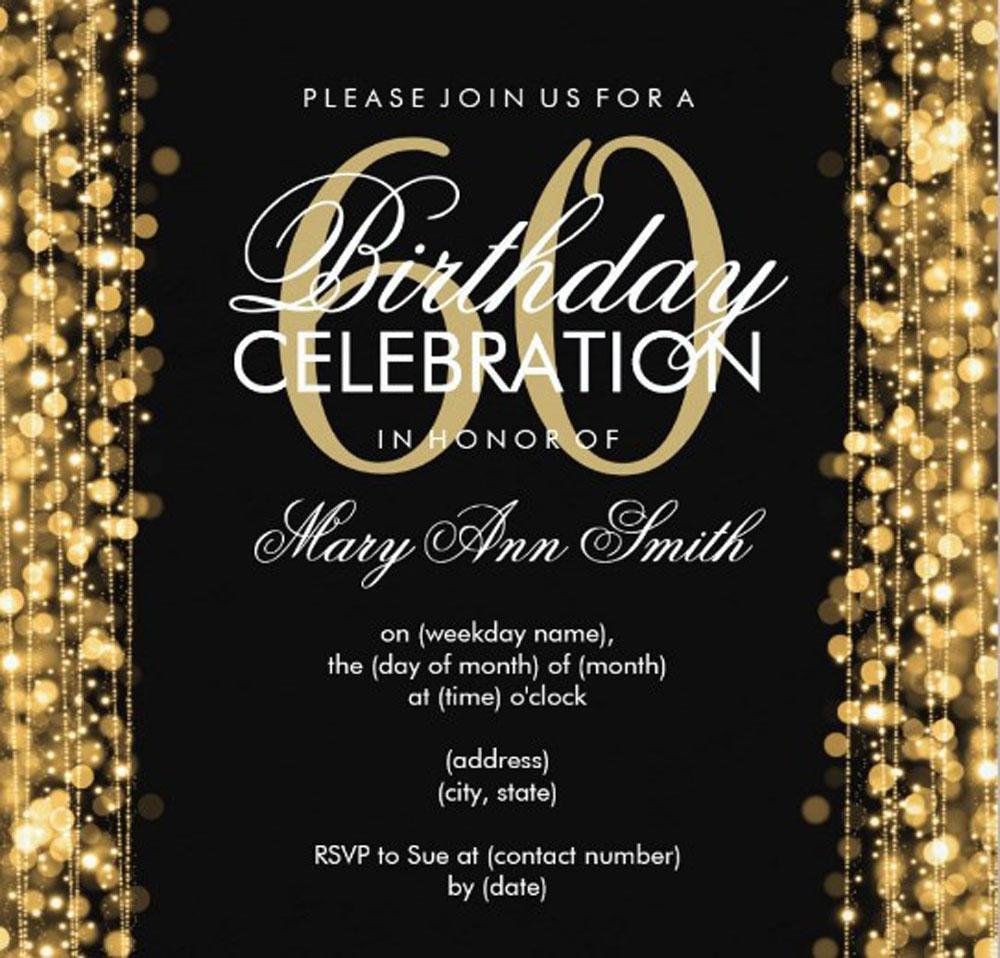 Diy 60th Birthday Invitation Templates