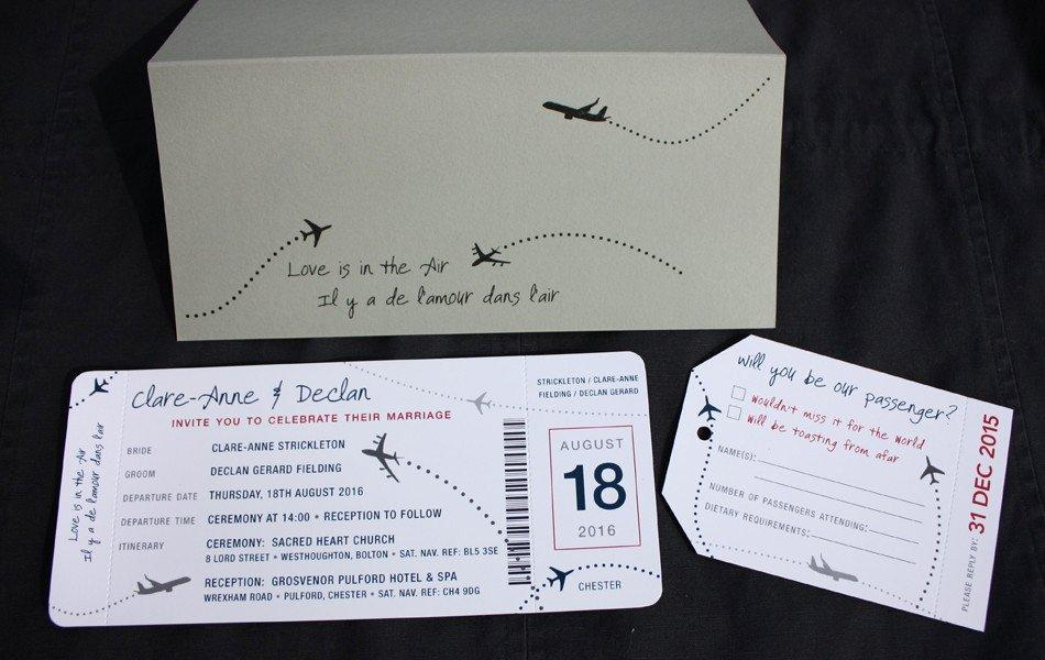 Diy Boarding Pass Wedding Invitation Template
